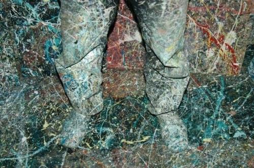 rhizome, ridha dhib, lignes, peinture, pieds,