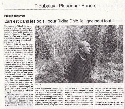Article de Ouest France sur Ridha Dhib