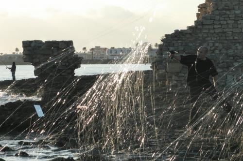 Performance de Ridha Dhib au Cimetière marin de Mahdia